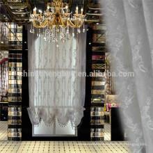 Décor de maison luxueux tissu en tulle rideau broderie stores romains