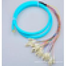 Открытый одномодовый симплекс OM3 OM4 50 / 125um Отверстие 12/24 жилы LC PC Волоконно-оптический кабель патч-корда
