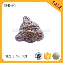 MFB95 botões metálicos feitos à medida de ouro para jeans, botões de metal de ponta com o seu próprio logotipo