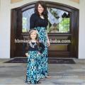 2017 nova moda longa seelve família roupas combinando mamãe e eu vestidos de roupas Mãe Filha combinando Vestidos