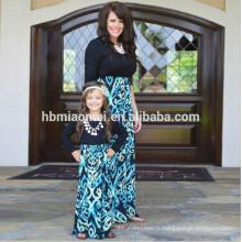 2017 nouvelle mode longue seelve famille correspondant vêtements maman et moi tenues robes mère fille correspondant robes