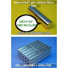 Bar magnet D9.53x38.1MM/magnetic rods