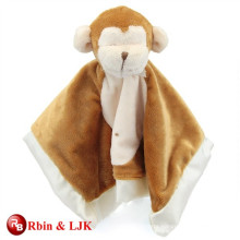 custom promotional lovely animal head plush baby blanket