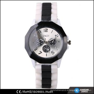 Relógio japonês movt watch dinâmico e relógio de quartzo