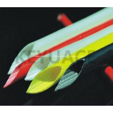 Gaine tressée en fibre de verre extensible en caoutchouc de silicone