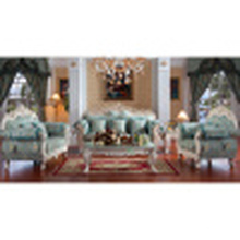 Sofá de madera de la tela / sofá de la sala de estar / sofá casero (D929B1)