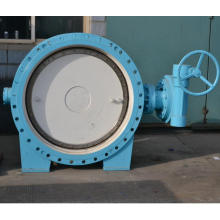 Double eccentricity ductile iron hand wheel double flanged butterfly valve DN80-3600 Yuanda Valve