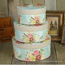 Impressão de qualidade Round Cardboard Paper Hat Box