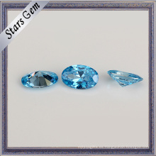 Precio para Aqua Blue Oval Shape Cubic Zirconia