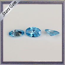 Price for Aqua Blue Oval Shape Cubic Zirconia