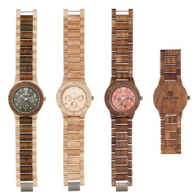 SKONE 7401EG 201new arrival multifunction timepiece wooden men's watch