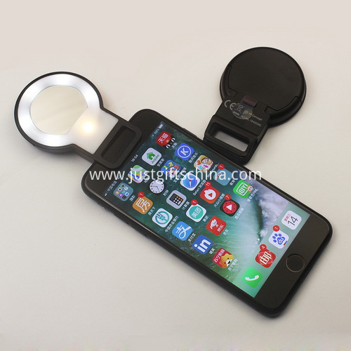 Promotional mirror selfie flashlight