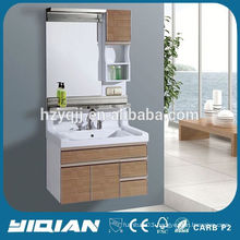 New Design Wall Mounted Mirror Resin Top Waterproof PVC Home Hardware Bathroom Vanities
