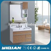 New Design Mural Mounted Mirror Resin Top Impermeável PVC Home Hardware Vanidades de banheiro