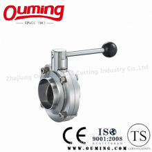 Ss316 Sanitary Welded Butterfly Valve