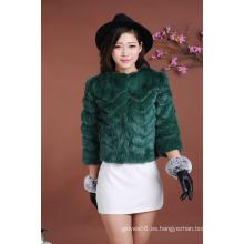 Las mujeres de la señora Winter Fur Short Coat Women de la alta calidad ponen en cortocircuito la venta al por mayor caliente de la chaqueta de la capa del cortocircuito de la piel