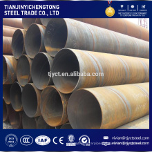 Q235 Q345 mild steel LSAW pipe , large diameter thin wall pipe OD12''-56''