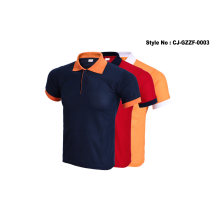 Wholesale Custom 100% Cotton Striped Polo Shirt with Button
