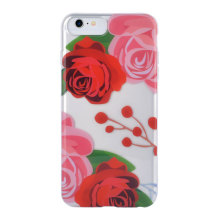 Red Rose Background Half Transparent Phone Case for IMD iPhone 6S Case