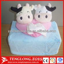 Креативный дизайн коровы форме милый плюшевой ткани коробка крышка
