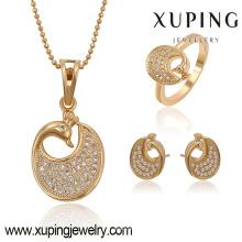 63773-arabic jewelry fashion 18k luxury swan heavy kundan jewelry set