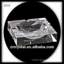 K9 Quadratischer Kristall Aschenbecher mit gutem Transparent