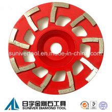 Rebolo copo com L forma, segmentos de moagem de cimento