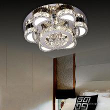 candelabro de cristal dos candelabros modernos do cromo para a casa de campo