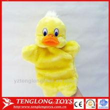 Lindo pollo juguetes de peluche mano de la marioneta de mano para bebé