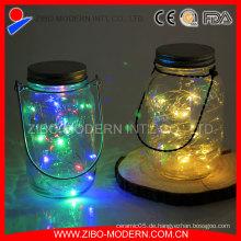 Dekorative trinkende Mason Gläser, Hochzeit Glas Solar Mason Jar
