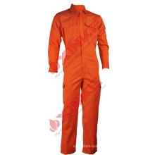 Combinaison de sécurité en coton ignifuge orange écologique en norme Oeko-Tex 100 pour le marché de Singapour