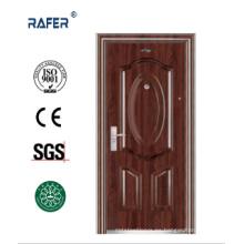 Venda la mejor puerta de acero de color negro nogal (RA-S086)