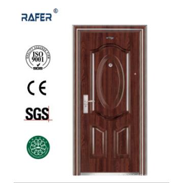 Vendre meilleure porte en acier couleur noyer noir (RA-S086)