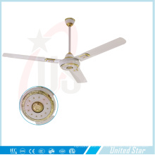 56''celling ventilador solar DC ventilador de sala grande refrigeración ventilador cinco velocidad regulador
