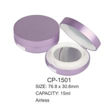 Round Plastic empty Air cushion Compact Case