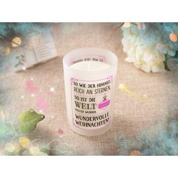 Vela de aniversário de soja natural artesanal em vidro transparente