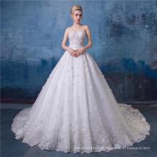 Frisado bordado vestido de noiva sem alças vestido de noiva 2017 HA570