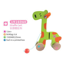 Wooden Giraffe Pull and Push Toy Wooden Pull Toy for Kids