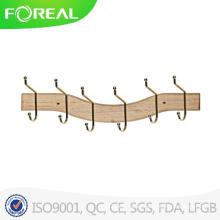 6 Hooks Fashionable Luxury Wood Hanger for Clothes