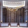 Hotel Chandelier Crystal Long Rechteckige Pendelleuchte