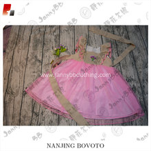 smocked hand embroidered girls pink tulle dress
