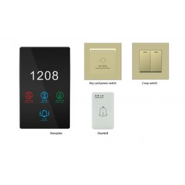 Smart Rcu 1 Gang Touch Switch Metal para Smart Hotel