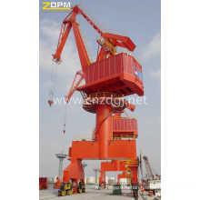 Широко используется 15 тонн порт портал кран Mq Wirerope Luffing портал кран Цена