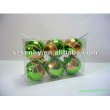 Plastic Christmas ball customized color,size,logo