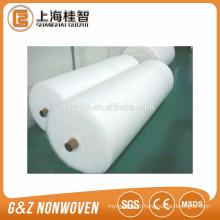 Rouleaux de tissu non tissé de spunlace blanc pour des lingettes humides rouleau de tissu de coton rouleau de tissu tissé pp