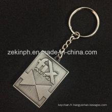 Porte-clés de couleur antique en métal