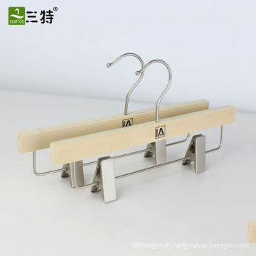 populäre lamellierte hölzerne Hosenaufhänger trounser Metallclipaufhänger