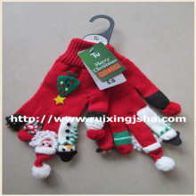 kid colorful Chrismas knitted gloves