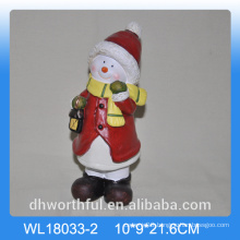 Wholesale ceramic snowman for christmas decoration