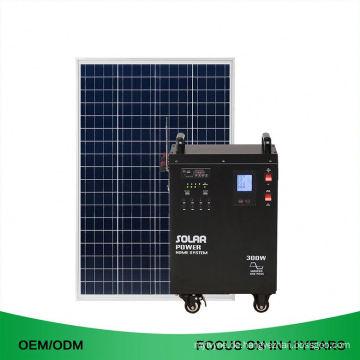 38Ah DC 300W weg vom Grid 2KW wieder aufladbares tragbares Solarenergie-System